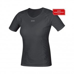 GORE® WINDSTOPPER BASE LAYER MAILLOT MANCHES COURTES FEMME | BLACK | Collection Printemps-Été 2019
