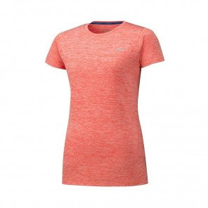 MIZUNO Tee-Shirt manches courtes IMPULSE CORE Femme | Hot Coral | Collection Printemps-Été 2019