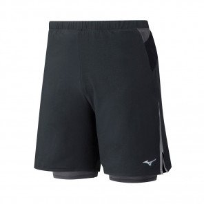 MIZUNO Short Trail 2en1 ENDURA 7.5 Homme | Black | Collection Printemps-Été 2019